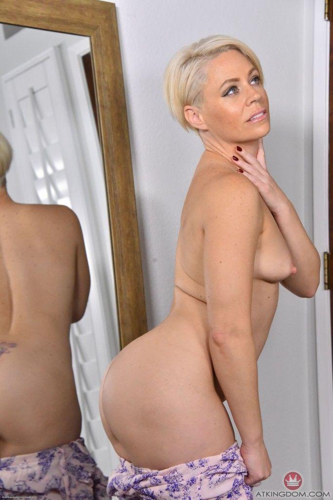 Blonde short hair milf